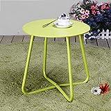 qx Escritorios de mesa Mesa de centro plegable, Mesa de comedor al aire libre, Mesa redonda pequeña, Seis colores para elegir,mi