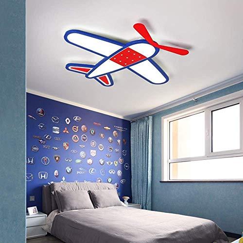 VSander Avión De Dibujos Animados LED Luz De Techo Regulable Habitación For Niños Dormitorio For Niños Jardín De Infantes 62 * W50CM