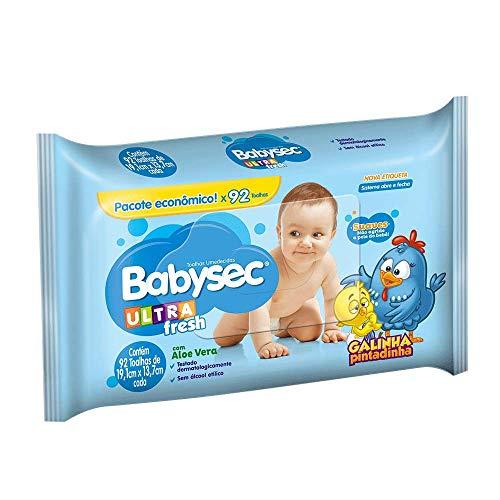 Toalhas Umedecidas Babysec Ultrafresh Galinha Pintadinha, 92 Unidades de 19,1x13,7 cm