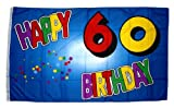 Fahne / Flagge 60. Geburtstag Happy Birthday NEU 90 x 150 cm