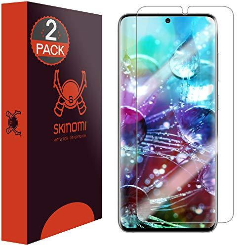 Skinomi TechSkin Displayschutzfolie kompatibel mit Samsung Galaxy S20 Plus (S20+ 6,7 Zoll) (2er-Pack) (von Kante zu Kante) Clear TPU Anti-Bläschen-HD Film