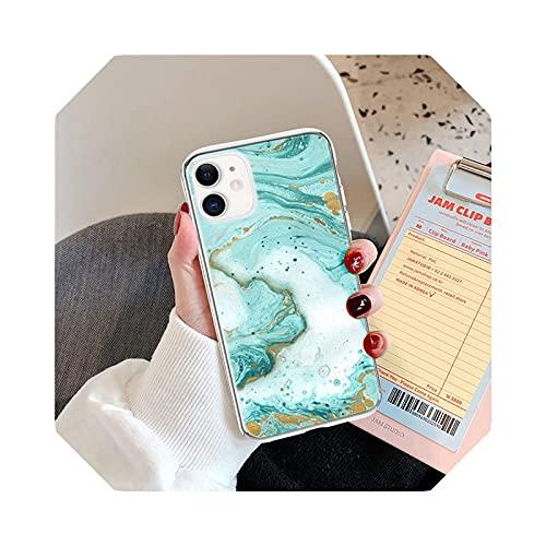 Funda de textura de piedra de mármol para iPhone 11 Pro Max 12 Mini 12 Pro Max 7 8 Plus X XR XS Max SE2020 suave a prueba de golpes cubierta trasera T4-para iPhone 12Pro Max