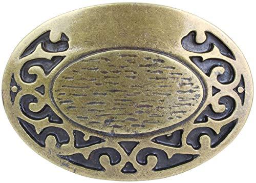 Brazil Lederwaren Gürtelschnalle Buckle 4,0 cm | Buckle Wechselschließe Gürtelschließe 40mm Massiv | LARP- und Mittelalter-Outfit | Altmessing