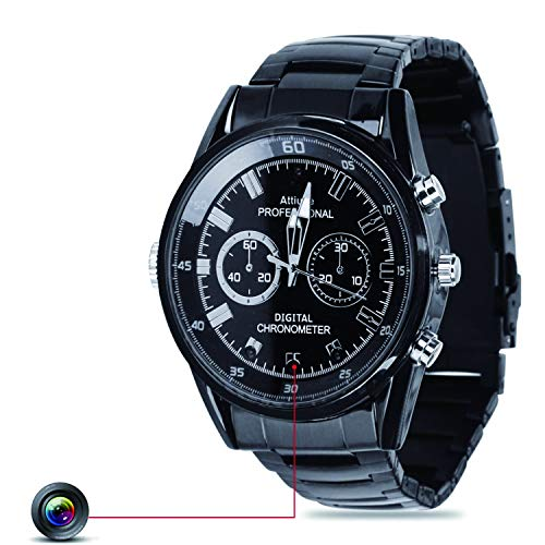 Watch Kamera Spionage Uhr Kamera FHD 1920 * 1080P wasserdichte Versteckte Smartwatch Infrarotkamera Eingebaute Speicherkarte 16G