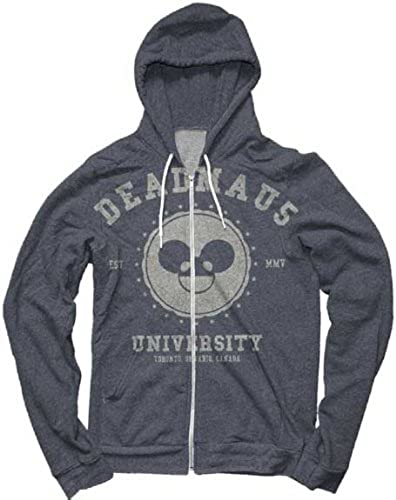 Deadmau5 University Blau Zip Up Hoodie Sweatshirt   M