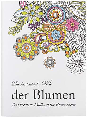 Idena – Livre à Colorier pour Adultes Motif, 64 Pages Fleurs