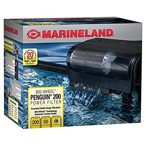 MarineLand Penguin 200 Power Filter, 200GPH (PF0200B),Black