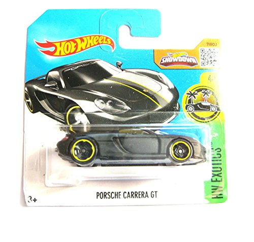 HOT WHEELS 2016 HW EXOTICS PORSCHE CARRERA GT MATT BLACK 74/250 SHORT CARD