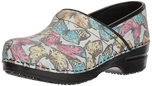 Sanita Women's Smart Step Pro. Mariposa Clog, Multi, 37 M EU (6.5 US)