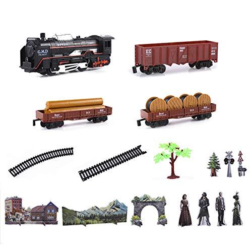 Tren Juguete,Kit De Construcción De Tren Eléctrico Modelo De Motor De Locomotora...