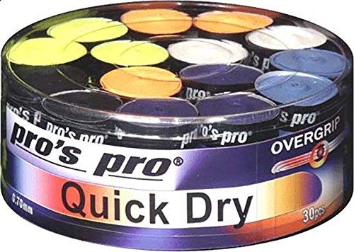 Pro de secado rápido notebookbits Grips - caja de 30 - para todo tipo de raqueta raquetas de tenis