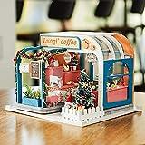 Earlyad DIY Dollhouse 2020 Madera LED Ensamblado Juguete Cottage Navidad Año Nuevo Regalo Maravilloso