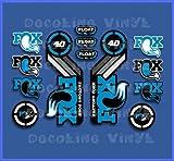 Ecoshirt AN-KIG2-C9X7 Pegatinas Fox Float 40 2015 Heritage Dp1089 Stickers Aufkleber Decals Autocollants Adesivi, Azul