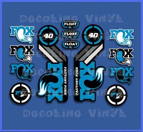 Ecoshirt AN-KIG2-C9X7 Autocollants Fox Float 40 2015 Heritage Dp1089 Autocollants Autocollants Bleu
