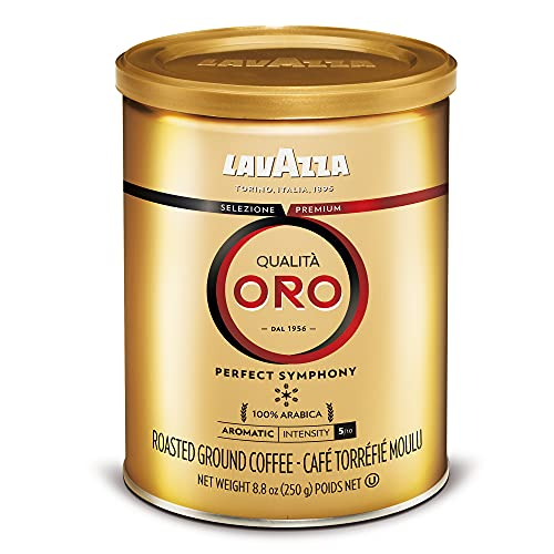 Lavazza Qualita Oro Ground Coffee Blend, Medium Roast, 8.8-Ounce Cans (Pack of 4)(Packaging may vary)