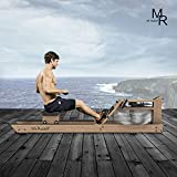 Mr Rudolf Water Rowing Machines for Home Use - Water Resistance Oak Rower with Bluetooth Monitor Home Gyms Training Equipment Sports Exercise Machine Fitness Indoor