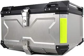 Mentmate リアボックス 100L トップケース シルバー アルミ製品 大容量 ツーリング 取り付けベース 鍵2本 インナーライニングあり 反射ストリップ2本 …