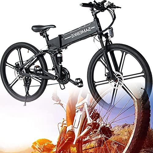 SUNWEII Bicicleta eléctrica 48V 10Ah 500W Pulgadas e Bicicleta Bicicleta Plegable Mujeres...