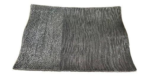 cvcsrl CVC- Vassoio, centrotavola, svuotatasche, Collezione Noir, 51x5,5 cm