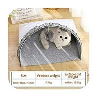 sexy-kawayiiペット猫バスケットベッド猫ハウス暖かい洞窟犬小屋ホーム睡眠犬小屋テディ快適な家猫ベッド-Green-as picture