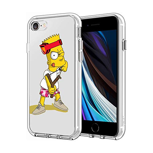 Phone Case for iPhone 7 / iPhone 8 / iPhone SE, Clear Case Protector Case Personalized Pattern Design (Bart-Simpson)