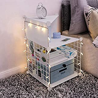 Night Stand Bedside Table White Nightstand Organizer Storage Night Stands for Bedrooms Side End Tables Bedroom Small Cabinet Furniture Nightstands for Kids Guys College Dorm Apartment Essentials