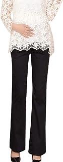 Femme Grossesse Maternit/é Pantalon Jambe Large Taille Haute Fleur Imprim/é Droit D/écontract/é Confortable pour Yoga Extensible Casual Mode Grande Taille S-2XL Sunenjoy