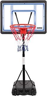 "PEXMOR Swimming Pool Basketball Hoop, Height Adjustable 45""-53"" Poolside Portable Basketball Stand System with 32"" X 23"" P..."