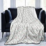 Manta mullida, de dibujos animados de llamas con bufanda y cactus, súper suave, manta de forro polar, manta para bebé, dormitorio, cama, TV, manta de 50 x 40 pulgadas