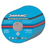 Silverline 224514 - Discos de desbaste de centro hundido para metal, 10 pzas (115 x 6 x 22,2 mm)