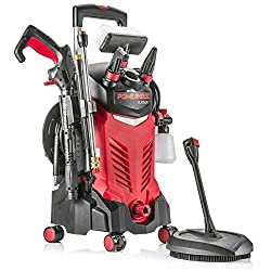 Powerhouse International - Electric High Power- Pressure Washer - 3000 PSI 2.2 GPM - Power Washer - Patio Cleaner - Hose Reel - Spray Gun (Red - Platinum Edition)