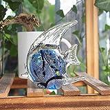 GHFT Escultura Animal Decoración de la Estatua Liuliyan Fish Aquarium Souvenir Animal Decoration Fish Tank Set decoración del hogar decoración Regalo