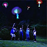 Habelyi 25PCS Amazing Led Light Arrow Rocket Helicopter Flying Toy Party Fun Gift Elastic Slingshot Flying Copters Birthdays Summer Outdoor Game for Kids
