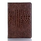 Aralinda Étui à rabat en cuir de crocodile léger pour tablette Samsung Galaxy Tab S4 10,5' 2018...