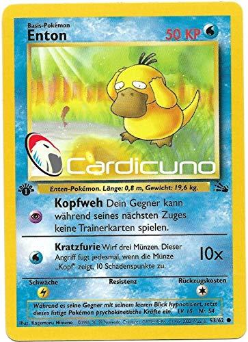 Enton 53/62 1. Edition Pokémon Fossil Sammelkarte - Deutsch - Cardicuno