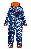 Nerf Pijama Niño de Una Pieza, Pijama Entero de Camuflaje, Pijamas Niños de Algodon con Capucha, Regalos para Niños y Adolescentes 4-14 Años (Azul, 4-5 años)