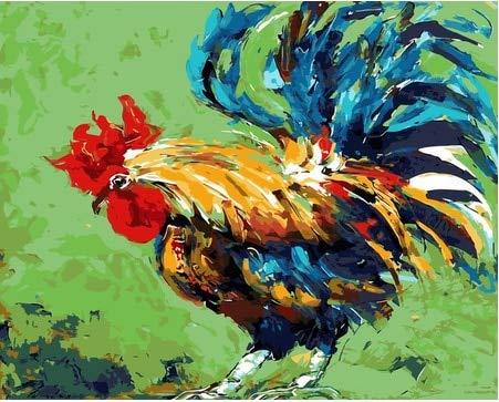 DIY pintura por números animales coloridos pintura al óleo pintada a mano por números para decoración del hogar arte A22 40x50cm