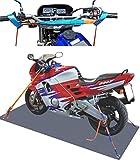 SHZ Spanngurt Motorrad Motorradsicherung komplett (vorn+hinten)/ Motorrad Zurrsystem...