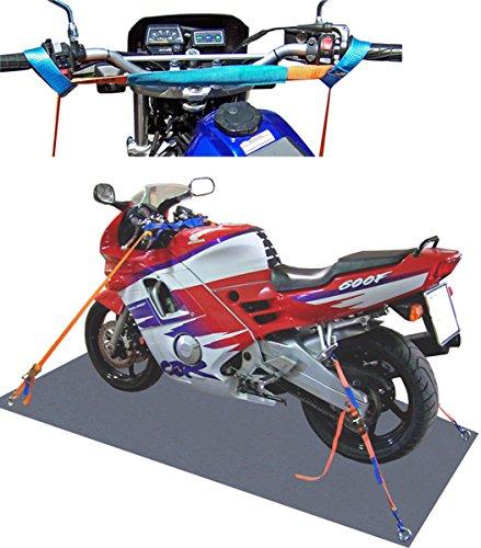 SHZ Spanngurt Motorrad Motorradsicherung komplett (vorn+hinten)/ Motorrad Zurrsystem Motorradspanngurt Motorradtransport (2)