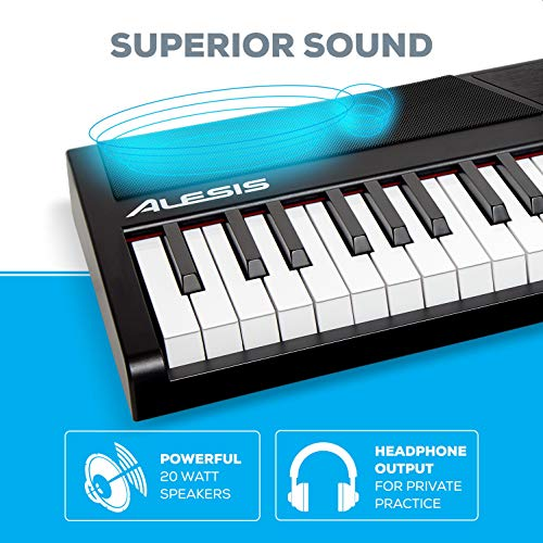 Alesis Recital – 88 Key Digital Electric Piano / Keyboard with Semi Weighted Keys, Power Supply, Built-In Speakers and 5 Premium Voices
