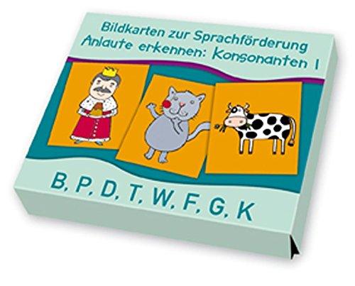 Anlaute erkennen: Konsonanten 1: B, P, D, T, W, F, G, K (Bildkarten zur Sprachförderung)