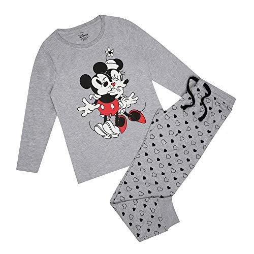 Disney Mickey & Minnie Hugs Pyjama Set Juego de Pijama, Multicoloured, 10 Regular para Mujer