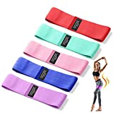 Resistance Bands for Legs and Butt, 5 Pack Fabric Elastic Exercise Bands, Non Slip Stretch Workout Heavy Bands with 5 Resistant Levels Durable Booty Bands For Women Fitness Yoga Pilates Muscle
