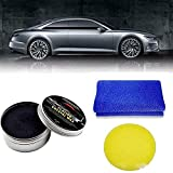 Car Wax Crystal Plating Set ?Carnauba Wax Paint Care Coating Care, Car Scratches Repair Wax ?With Waxing Sponge and Towel?for Car Scratches Fast Repair Coating Care ? (black)