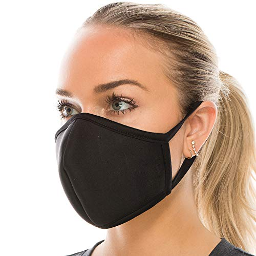 8TH of LA 3 Pack Made in USA, Reusable Neoprene face Covering, Multi Layer 3D Breathable