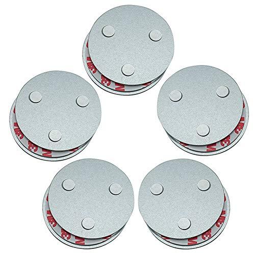 Hmtool Magnetbefestigung Rauchmelder,Magnet Befestigung für Rauchwarnmelder,Drei Magneten Sorgen Dafür,Dass Große Saug und 10 Jahre Lebenszeit Gleich wie Rauchsensoren(5Stk)