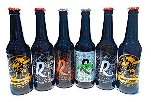 Rondadora Cerveza Artesana, producto Gourmet Artesanal, pack degustación 6 Botellas de 33, Kit Regalo, Vermouth IPA, NEGRA, LAGER, AMERICAN WHEAT