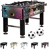 Maxstore football table Leeds in 5 colors, table football, foosball, incl. 4 balls + 2 cup holders, approx. 60kg - Cyber