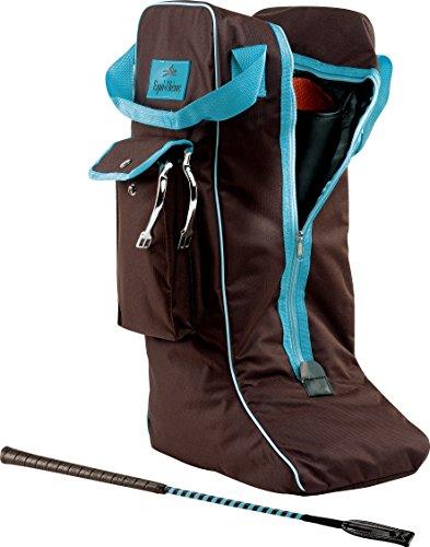 Equi-Theme/Equit'M Boots Tasche, Chocolate/Turquoise Piping, Nicht zutreffend