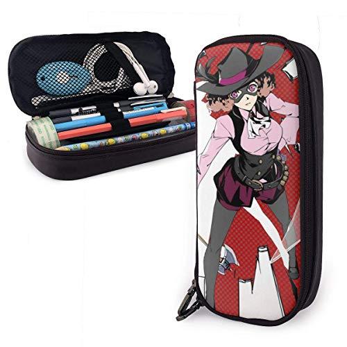 Estuche para lápices de gran capacidad Bolígrafo de almacenamiento grande Estuche para lápices Organizador Caja Portátil con cremallera - Persona 5 Noir Haru Okumura
